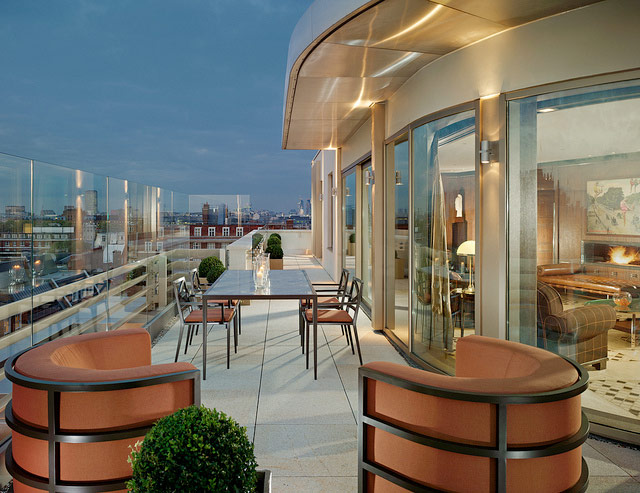Luxury london the most luxurious hotels in london for Terrace 45 restaurant